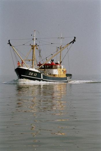 Kalastusalus Hollannin rannikolla