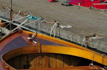 Old oak fishing boats