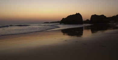 Praia Rocha illalla