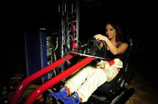 F1 Sim Fanny driving sharp