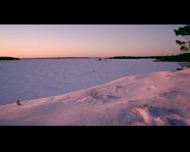 Winter evening Airisto