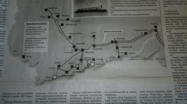 LNG kaasuputki Suomessa