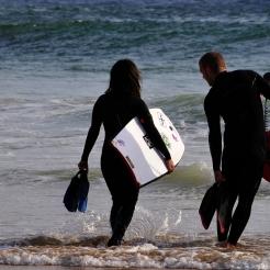 Surffers on the beach