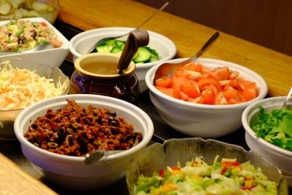 Fresh salad table