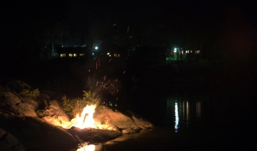 Bonfire in the night