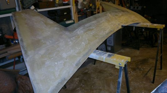 New stern to be mounted in the spring.