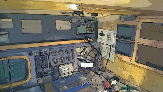 Old instrument out and new and  hopefully better nav instruments in.