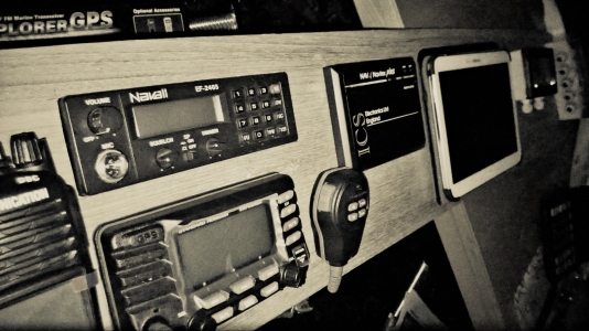 VHF radios good oldies and  new masterpieces, Navtex receivers and tablet weather systems.