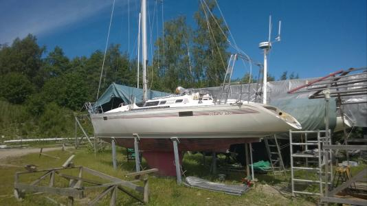 S/y Naneux  with the new stern. Next week alot finishing work to perform.