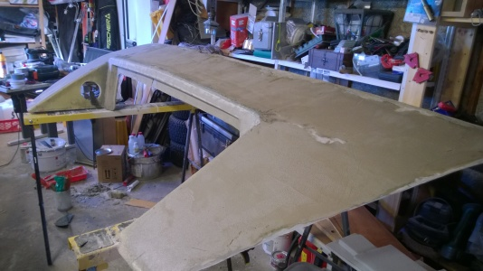 Working with the stern piece.
