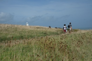 South Foreland lighthouse on the background