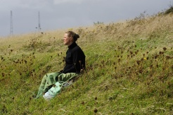 Kati on the meadows of St Margareth`s bay