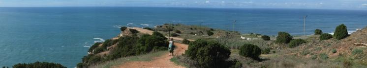 Nazare lighthouse cliff