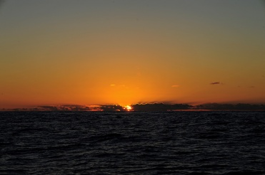 Sunset middle of Biscay