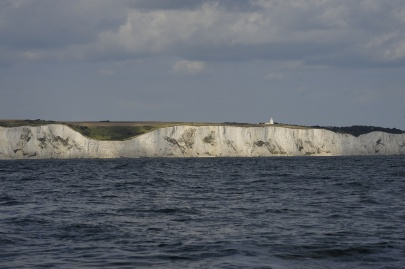Leaving the white cliffs of Dover