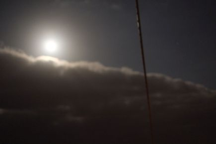 Moon behind the sea mist