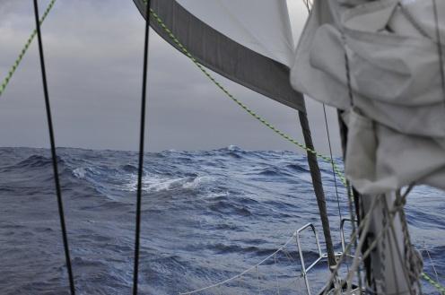 Sy Naneux reefed genoa, speed 6,5 knots