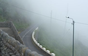 The humid air in slopes of Madeira