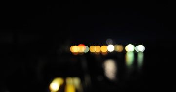 Harbor lights Baltic Sea