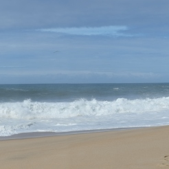 Nazare surfers beach