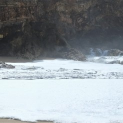 Nazare the cliff for the surfers